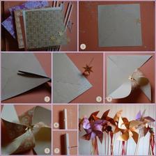 Už mám koupené papíry na scrapbook, jsou oboustrané a větrníky vyrobím opět hand made