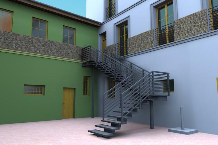 Startujeme.... - schodiště do bytu