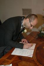 podpis ženich