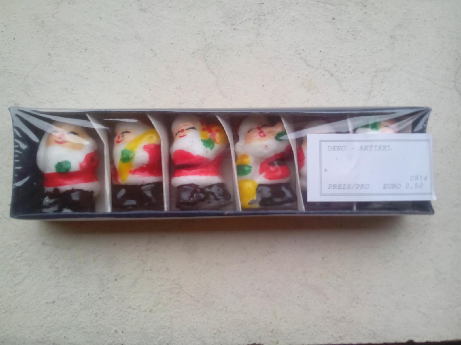 Kráľovstvo gombíkov (a aj všetkého iného) - Kúpené 2,12 2015 Balíček šesť kusov dekoračných sviečok za 0,50€/balenie