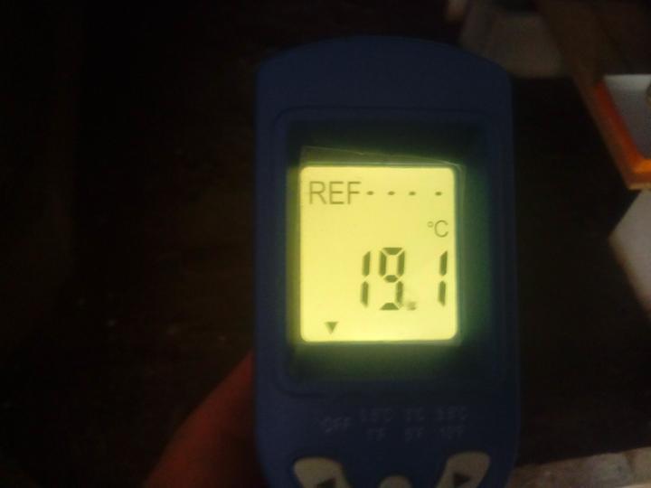 Takáto teplota je teraz v mojej pivnici. Viem, že na pivnicu dosť, ale stále menej, ako vonku. :o)