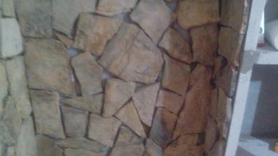 Detail kamenného obkladu.