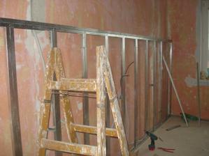príprava na sadrokartónovú stenu