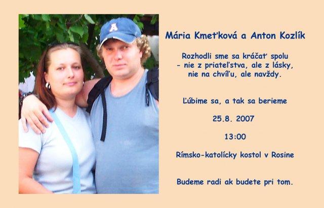 Mária Kmeťková{{_AND_}}Anton Kozlík - Obrázok č. 1