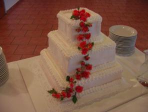 Naša výborná torta so živými ružičkami
