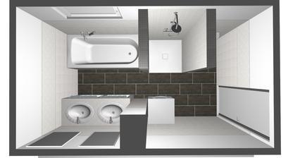 v kúpelňovom štúdiu ma pochopili presne, som spokojná:-) len dlažbu dáme nakoniec bledšiu imit, dreva:-)