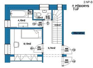 2.NP-B + ďalšia malá izba naviac ak je potrebná alebo pracovňa, študovňa, herňa .....