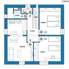 2.NP-C   riešenie 2.NP ako malý byt