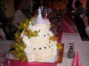 svatební dortík..