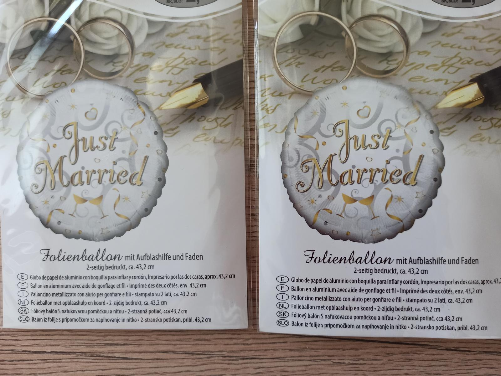 Balóny Just married - Obrázok č. 1