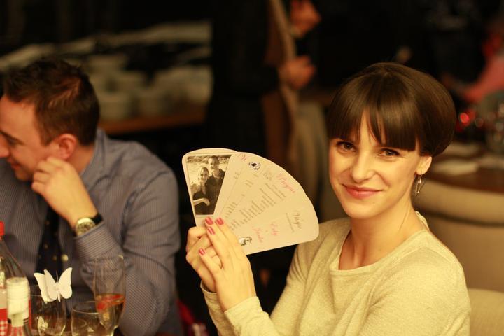 Evka{{_AND_}}Jan - Vejarik, ktory som vyrabala sama, kde bol program svadby, menu, vinna karta a podakovanie hostom s nasou foto