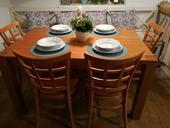 Jídelní stůl Cubis 90x140 + 4 židle z masivu - Ton,