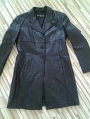 elegantný kožený kabát kalcero, L