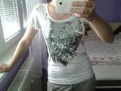elegantné tričko s fitrami, S