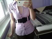 dámska košeľa s opaskom, 34