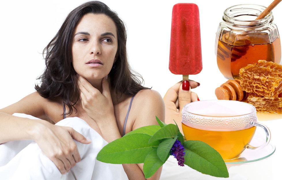 Bylinky a ovocie...receptíky z nich - Bolesť hrdla