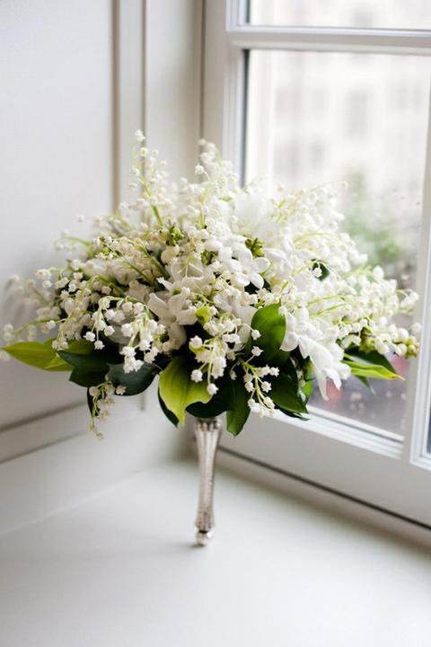 Svatební kytice - konvalinková něka