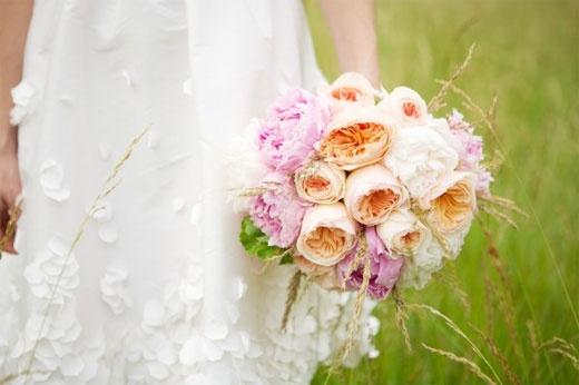 Svatební kytice - pivoňková