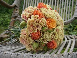 karafiáty s růží