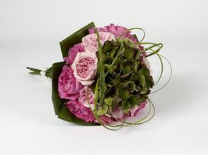 růže, hortenzie,