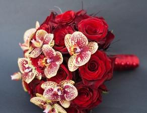 růže, orchidej