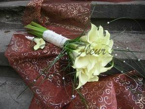 svatební kytice a korsáž