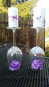 Svícny na svatební tabuli,