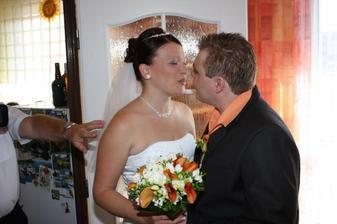 ženich si přišel pro nevěstu...