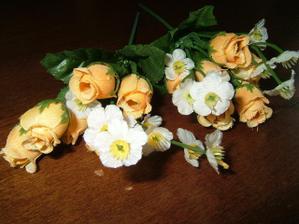 květiny na košíčky