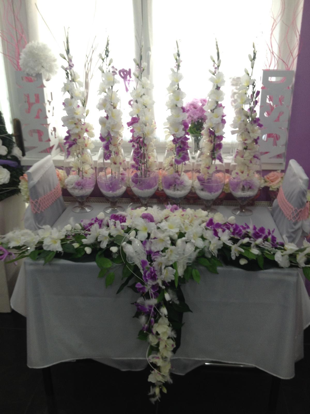 S & M Weding fialovo biela . - Obrázok č. 2