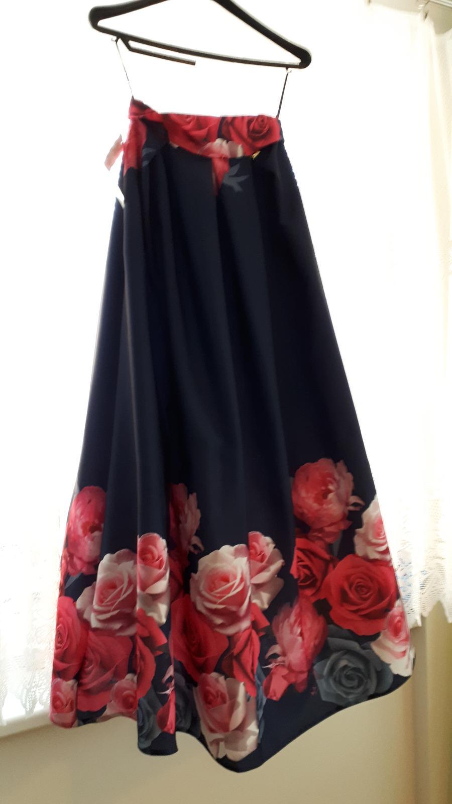 Dlhá kvetovaná sukňa - Obrázok č. 4
