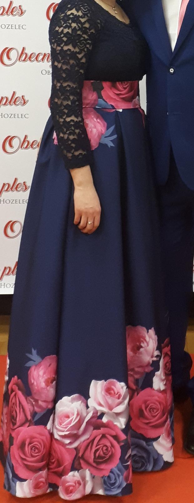 Dlhá kvetovaná sukňa - Obrázok č. 1
