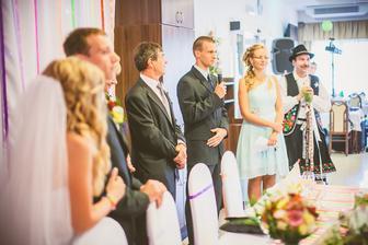 krásny prípitok svedka a svedkyne :) ženíchov brat a nevestina sestra :)