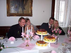 se svagrem a svagrovou, nase svatebni dorta