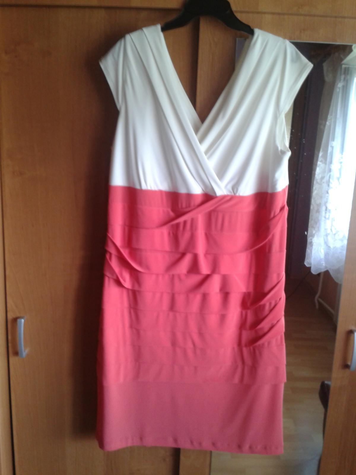Bielo-ružové šaty - Obrázok č. 1