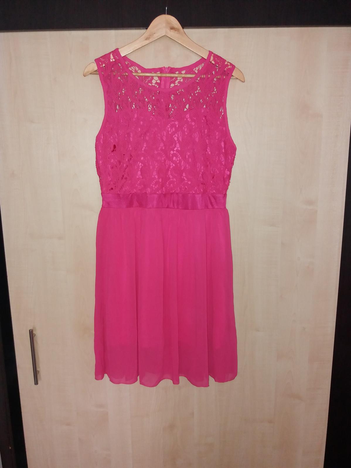 Ružové šaty, veľ. 42 - Obrázok č. 1