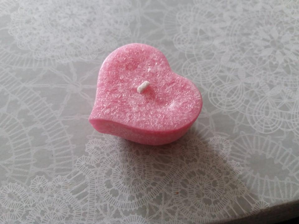 čajová sviečka srdce  - Obrázok č. 1