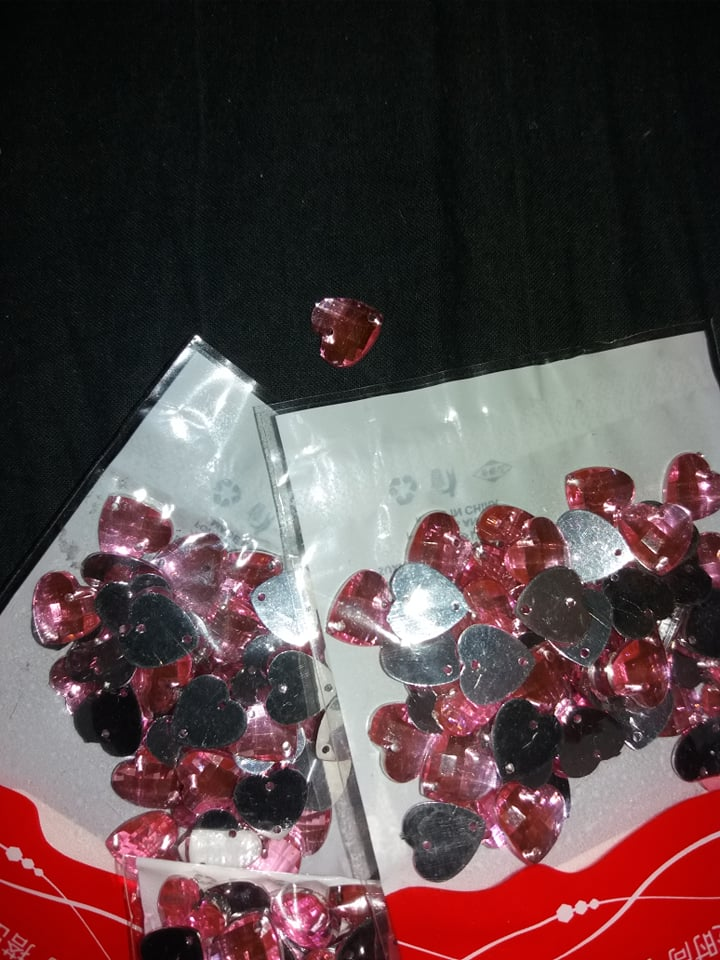 kamienky ružové srdiečka  - Obrázok č. 1