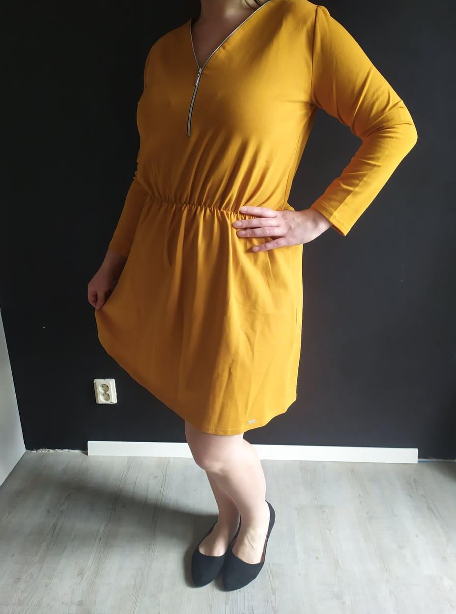 Dámske bavlnené šaty NANCY horčicové veľ. XL - Obrázok č. 1