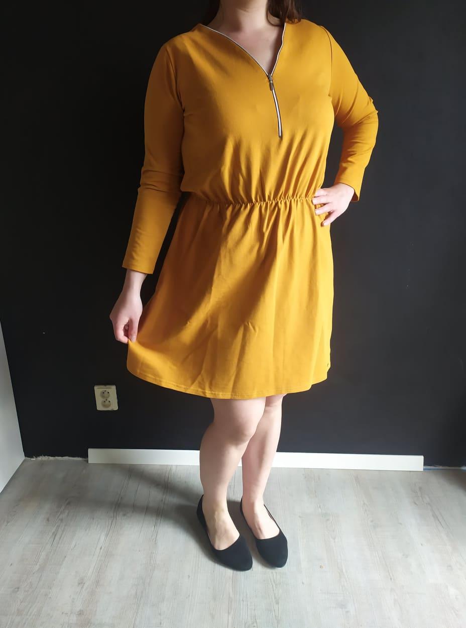 Dámske bavlnené šaty NANCY horčicové veľ. XL - Obrázok č. 2