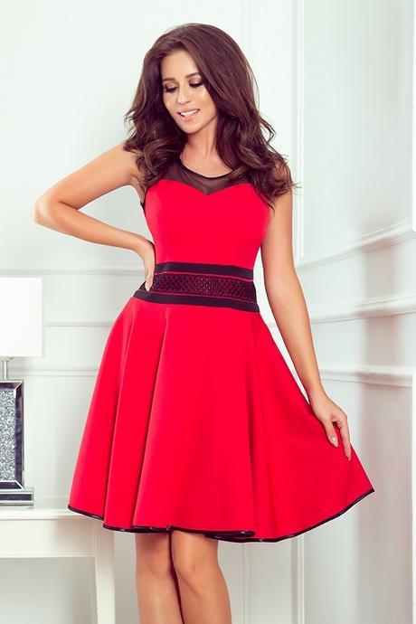 Dámske krátke šaty RICA červené veľ. XL - Obrázok č. 1