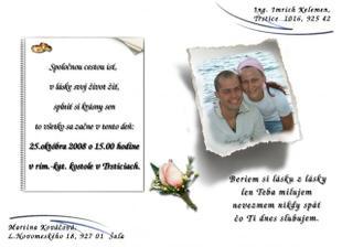 ...naše svadobné oznámenie....