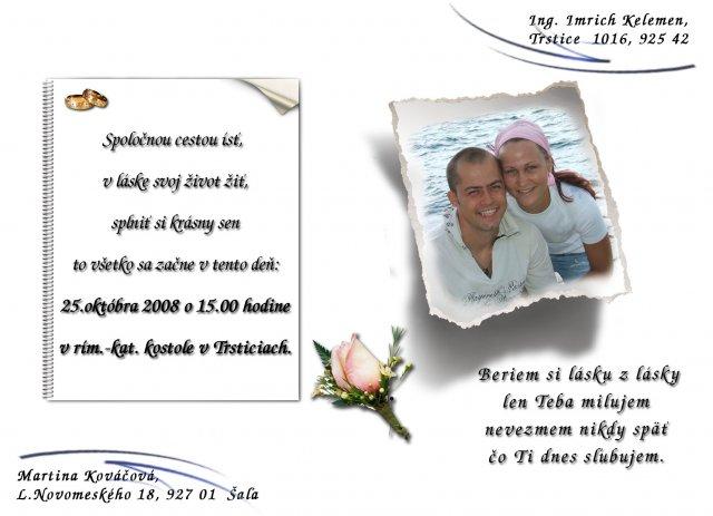 Maťka a Imi - ...naše svadobné oznámenie....