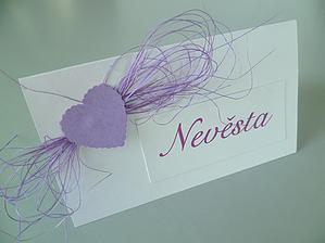 Jmenovky na svatební stůl ☺