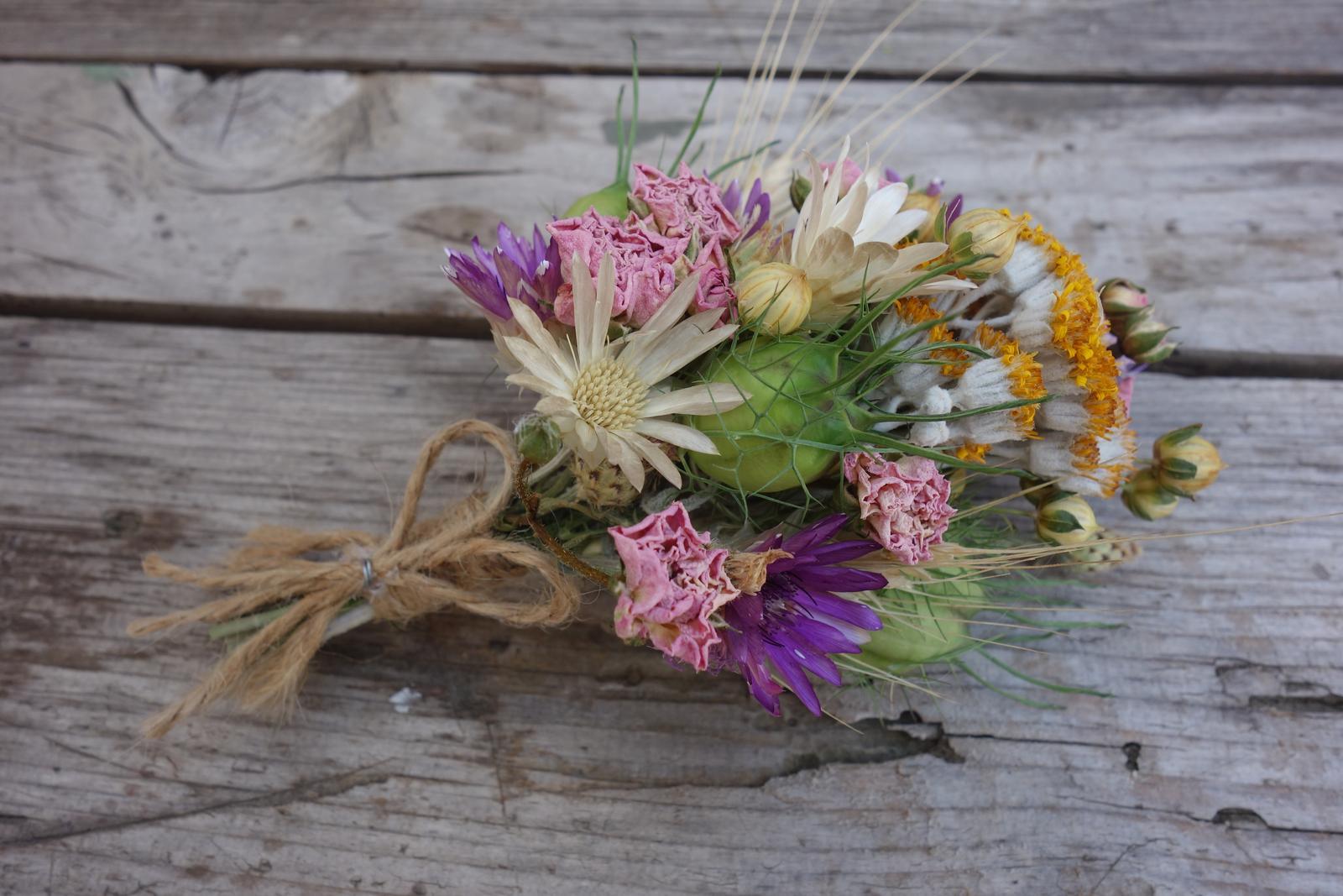 Svadobné kytice zo sušených kvetov - Obrázok č. 4