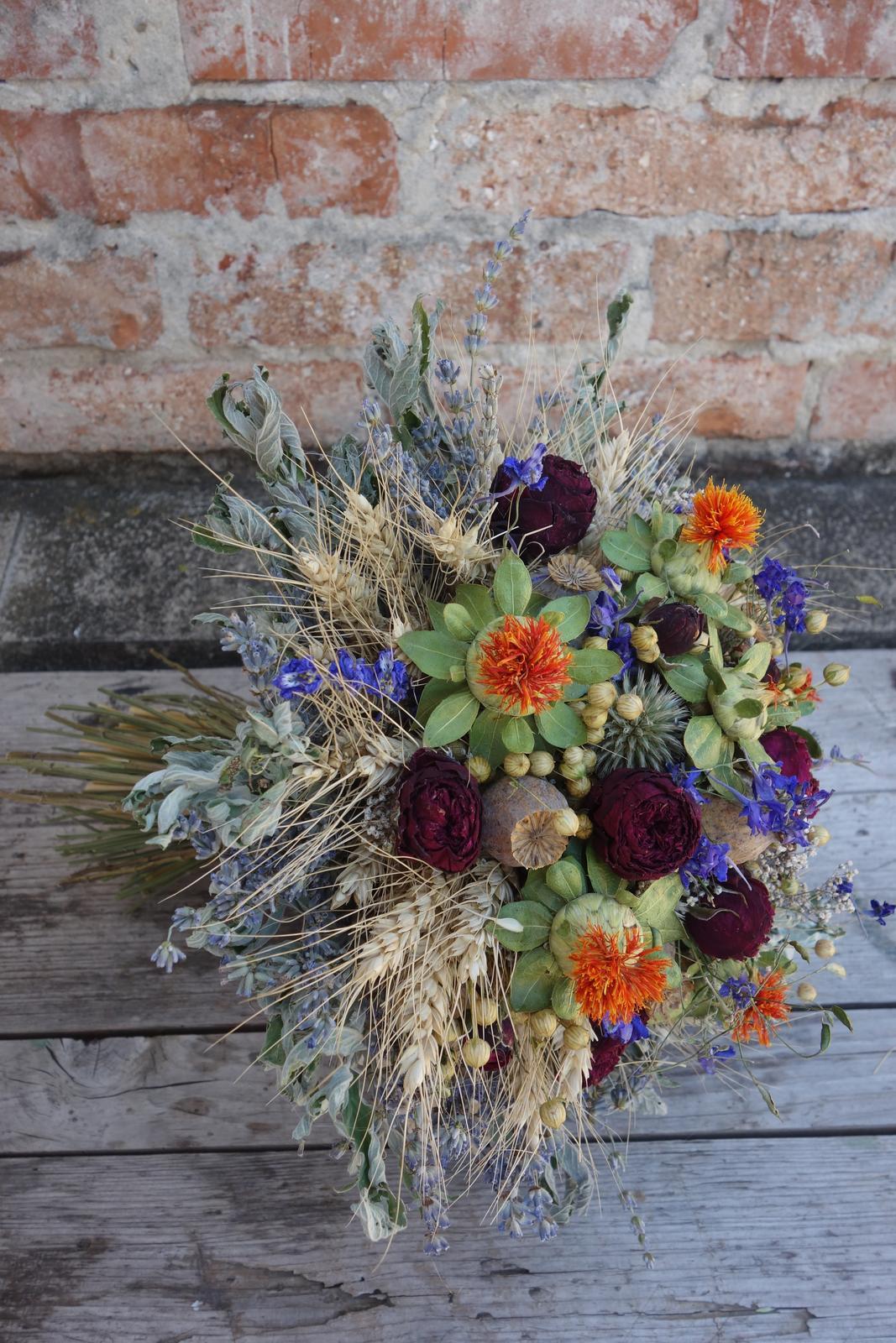 Svadobné kytice zo sušených kvetov - Obrázok č. 5