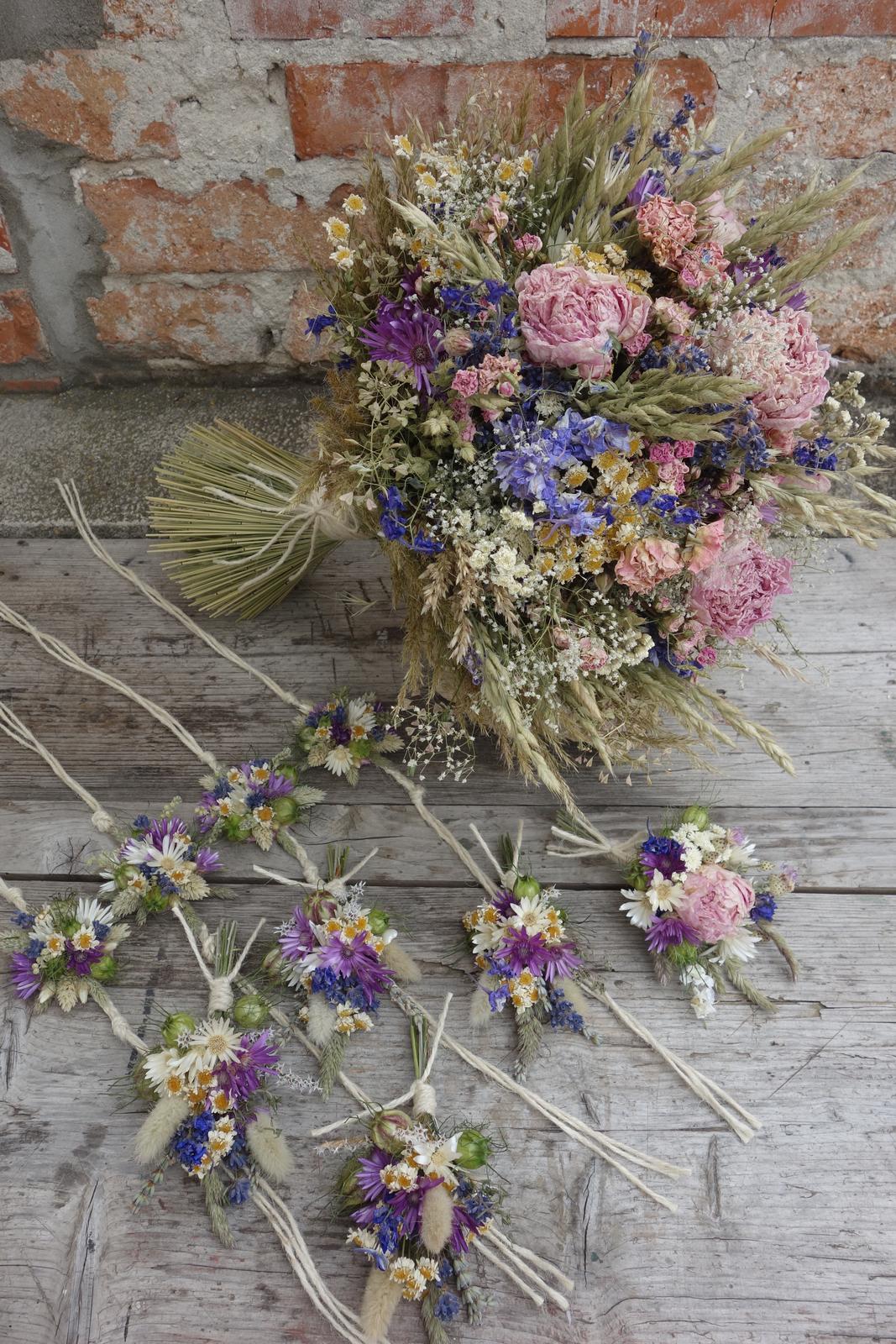 Moje svadobné kytice zo sušených kvetov rok 2019 - Obrázok č. 3