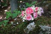 Romantický kvetinový štvrťvenček,