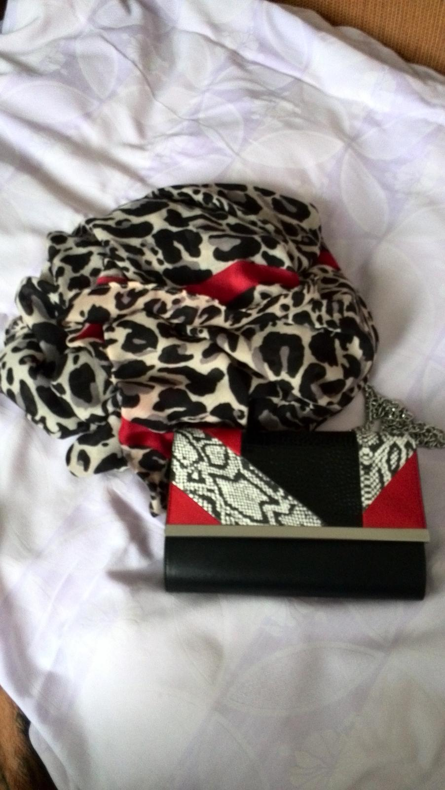 Set kabelka a šatka - Obrázok č. 1