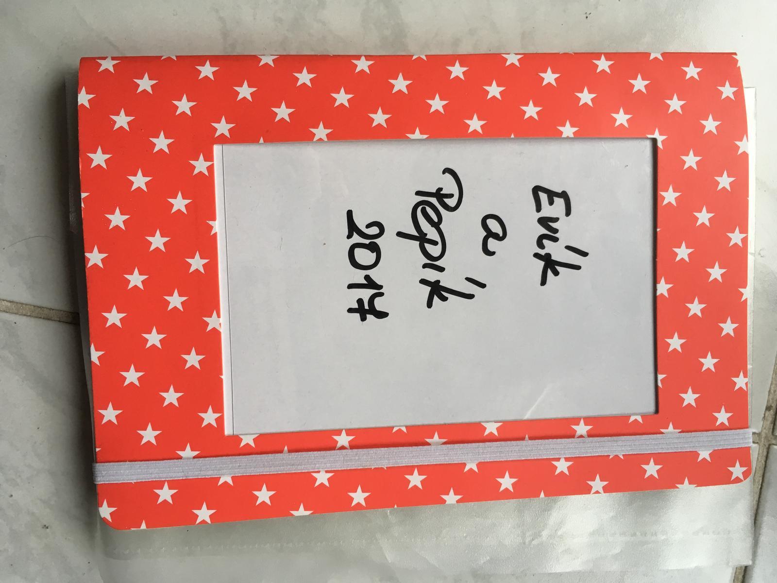 Moje vlažné pripravy - Náš slavný blbníček, kam si vše zapisujeme :-)